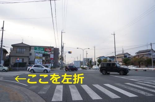 舘山寺街道からホワイトストリートへ