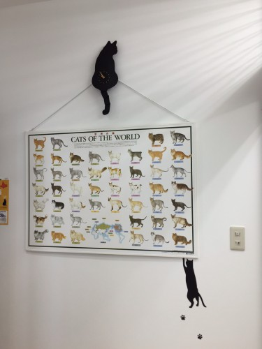 壁時計 猫